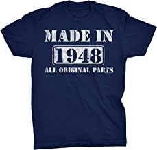 71st Birthday Gift T-Shirt - Made in 1948 All Original Parts