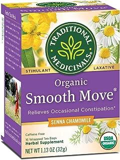 Traditional Medicinals Smooth Move Senna Herbal Stimulant Laxative Tea, Chamomile 0.07 oz (Pack of 2) by Traditional Medicinals
