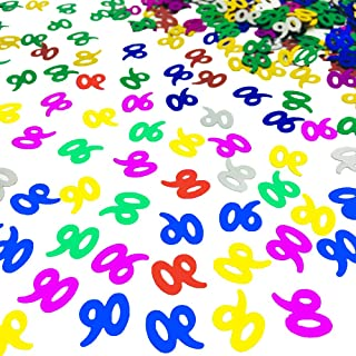 90th Birthday Confetti Number 90 Confetti 90th Anniversary Party Confetti for Party Table Decoration Supplies or DIY (Multicolor,1.5 Oz 1500 Pieces)