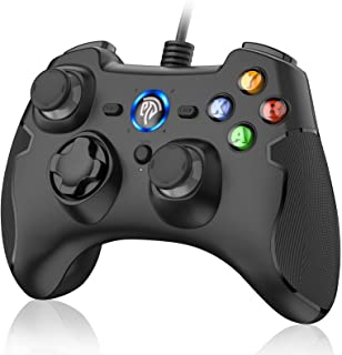 EasySMX Wired Gaming Controller,PC Game Controller Joystick with Dual-Vibration Turbo and Trigger Buttons for Windows/Andr...