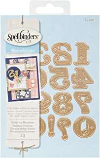 Spellbinders S4-540 Shapeabilities Victorian Numbers Etched/Wafer Thin Dies