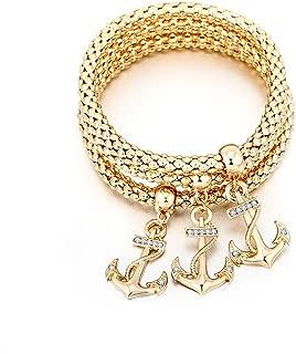 2018 women corn chain Shamba bracelet diamond popcorn tri-color anchor bracelet jewelry