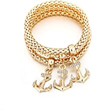 Ablaze Jin 2018 women corn chain Shamba bracelet diamond popcorn tri-color anchor bracelet jewelry