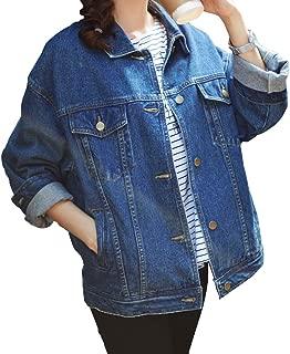 Loose Women's Denim Jackets, Blue Women Jean Jackets with Long Sleeve