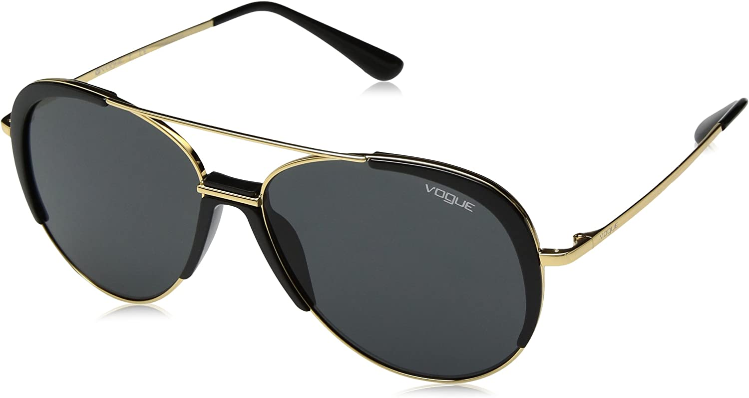 VOGUE Women's 0vo4097s Aviator Sunglasses gold 58 mm