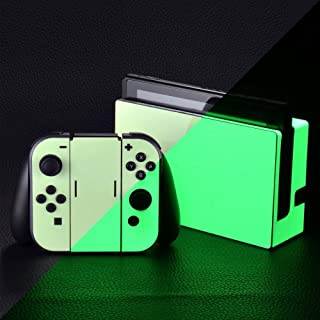 eXtremeRate Glow in The Dark Full Set Faceplate Skin Decal Stickers for Nintendo Switch (Console & Joy-con & Dock & Grip)