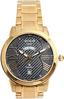 Casual Watch for Men by Accurate, Gold, Round, AMQ1738T