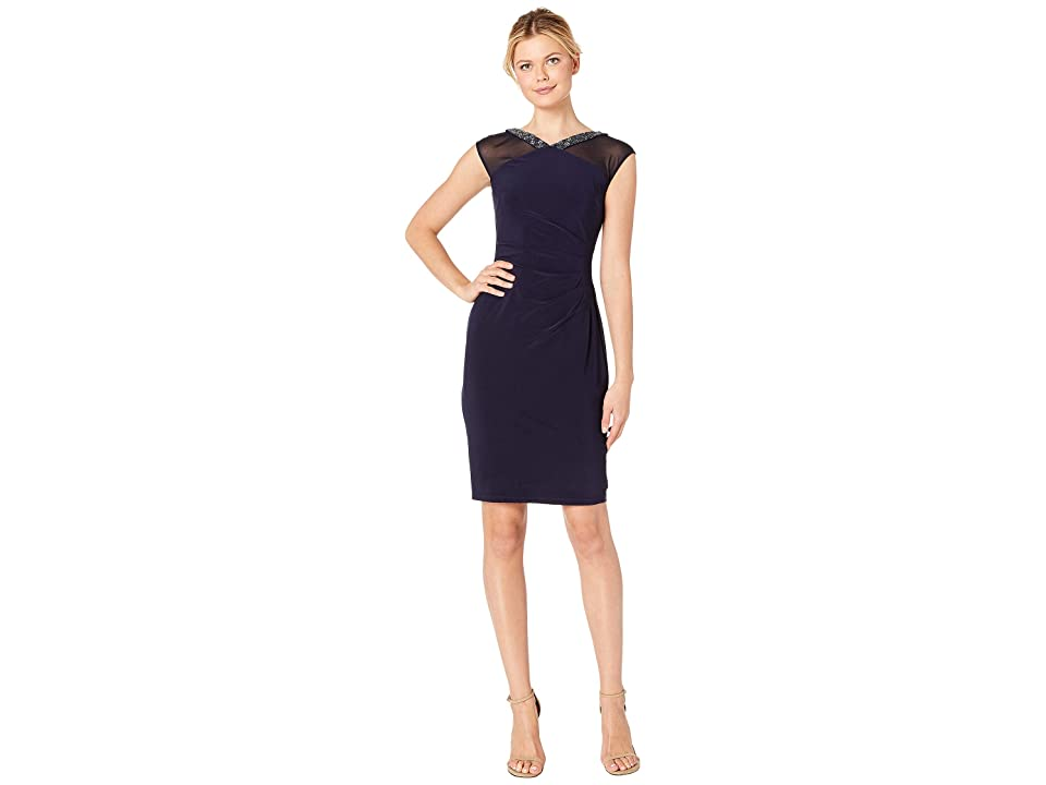 LAUREN Ralph Lauren Matte Jersey Viviennette Dress (Lighthouse Navy/Lighthouse Navy) Women