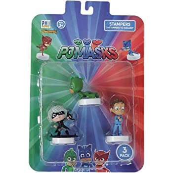 Pj Masks Stampers Blister 3 (S1) - Gekko, Luna Girl, Conor for Kids 3+ Years & Above