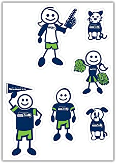 Siskiyou NFL Small Family Decal Set
