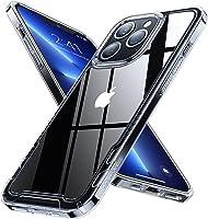 【透明鏡片】 Humixx iPhone13 Pro用 手機殼 透明 無黃 耐沖擊 美軍MIL規格 SGS認證 套 防滑 防指紋 鏡頭保護 支持無線充電 簡單 13Pro用 保護殼 貼合感 iphone13 Pro用 保護套 6.1英寸 [透明]