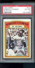 1972 Topps #310 Roberto Clemente In Action Pirates PSA 6 Graded Baseball Card