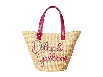 Dolce & Gabbana Kids Coffa Paglia+Ricamo (Violette Fdo.Azzurro) Bags