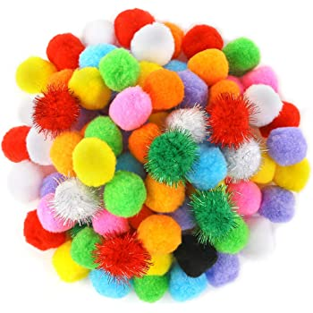 Pom Pom Balls For Crafts and Decorations Purpose 250 Pieces Pom Poms