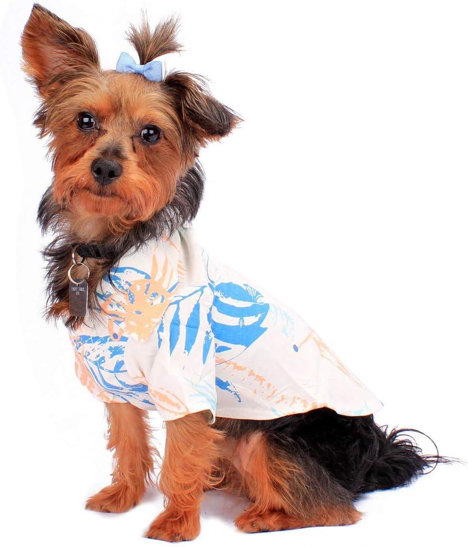 Amazon.com : Hawaiian Matching Pattern Dog Aloha Shirt in Sandy ...