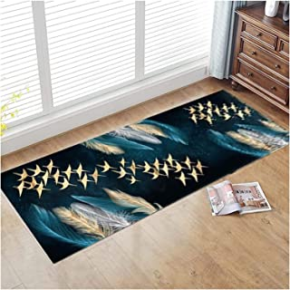 3D Runner Rug for Hallway, Soft Extra Long Front Door Mat with Non Slip Backing, Cuttable Entryway Carpet for Hall Kitchen...