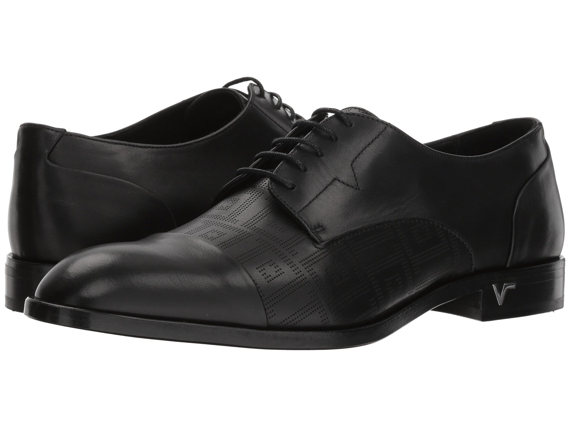 Calzado tipo Oxford para Hombre Versace Collection Greca Perforated Oxford  + Versace en VeoyCompro.net