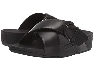 FitFlop Lulu Buckle Slides (Black) Women