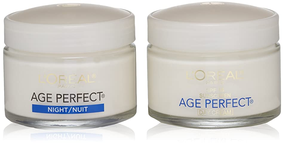 L'Oréal Paris Age Perfect Anti-Sagging Day Face Moisturizer with SPF 15 + Night Cream Gift Set