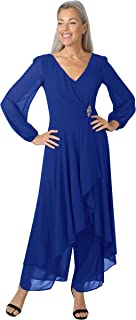 Marina Women's Collection of Chiffon Detailed Jumpsuits