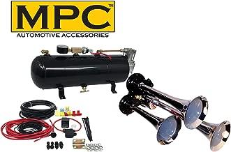 MPC M1 (0933) 3-Trumpet Train Air Horn Kit, 110 psi Air System, 150dB+, Metal