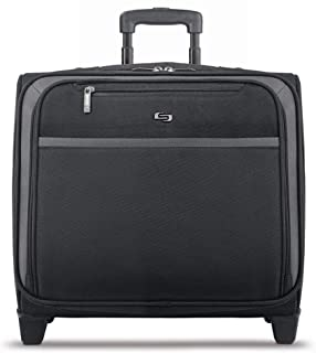 Solo Dakota 16 Inch Rolling Laptop Case with Overnighter Section, Black (Black) - CLA901-4