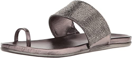 Kenneth Cole REACTION Wohommes Slim Tricks Tricks 2 Toe Ring Sandal, Pewter, 6.5 M US  vous rendre satisfait
