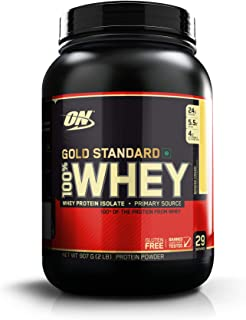 Optimum Nutrition (ON) Gold Standard 100% Whey Protein Powder - 2 lbs, 907 g (Banana Cream)