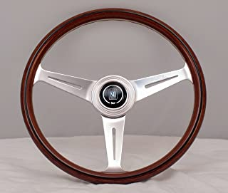 NARDI Steering Wheel - Classic - 360 mm (14.17 inches) - Mahogany Wood with Polished Spokes - Part # 5061.36.3000