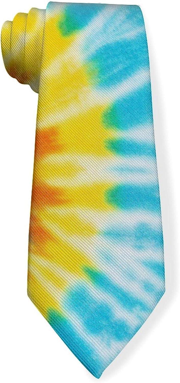 Colorful Abstract Spiral Tie Dye Mens Classic Color Slim Tie, Men's Neckties, Fashion Boys Cravats