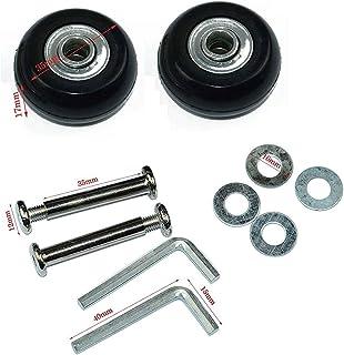 LUO Negro Repuesto Equipaje/Inline Skate Ruedas con Exterior 608ZZ Rodamientos