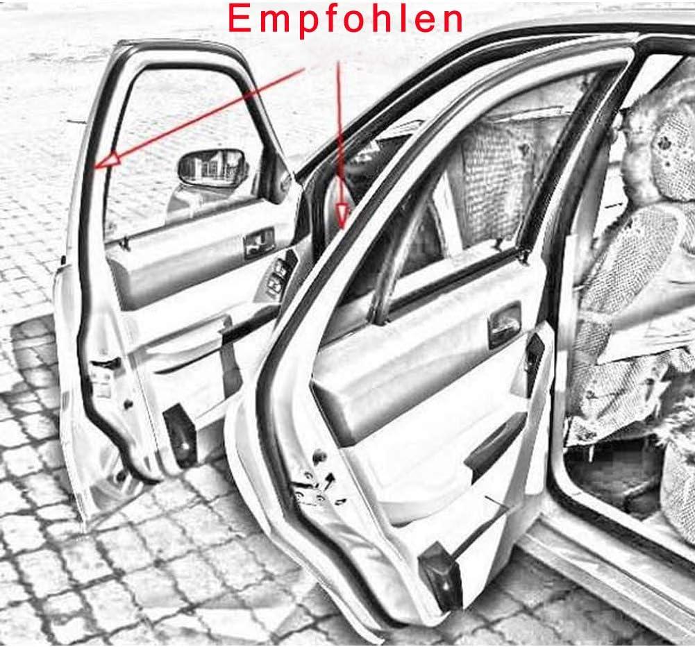 All-Pie D-f/örmig 5M Auto T/ür Gummidichtung Gummiprofil T/ürdichtung Autot/ür Fernster Kantenschutz 10x10 mm