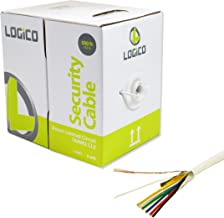 LOGICO Security Wire Burglar Alarm 18/6 500FT Stranded Shielded Control Speaker Cable