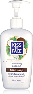 Kiss My Face Moisture Liquid Hand Soap, Coconut 9 oz Pump