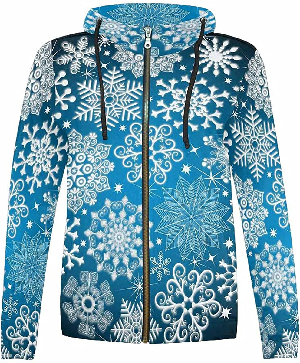 InterestPrint Snowflake Simple Youth Hoodie Special Campaign Max 59% OFF Boys Girls Jackets F