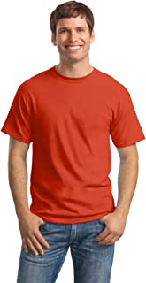 Hanes Men's Comfortsoft 6 Pack Crew Neck Tee - Orange - XL