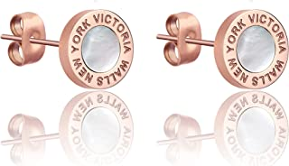 Victoria Walls Women's Mother of Pearl Earrings - VE1099R