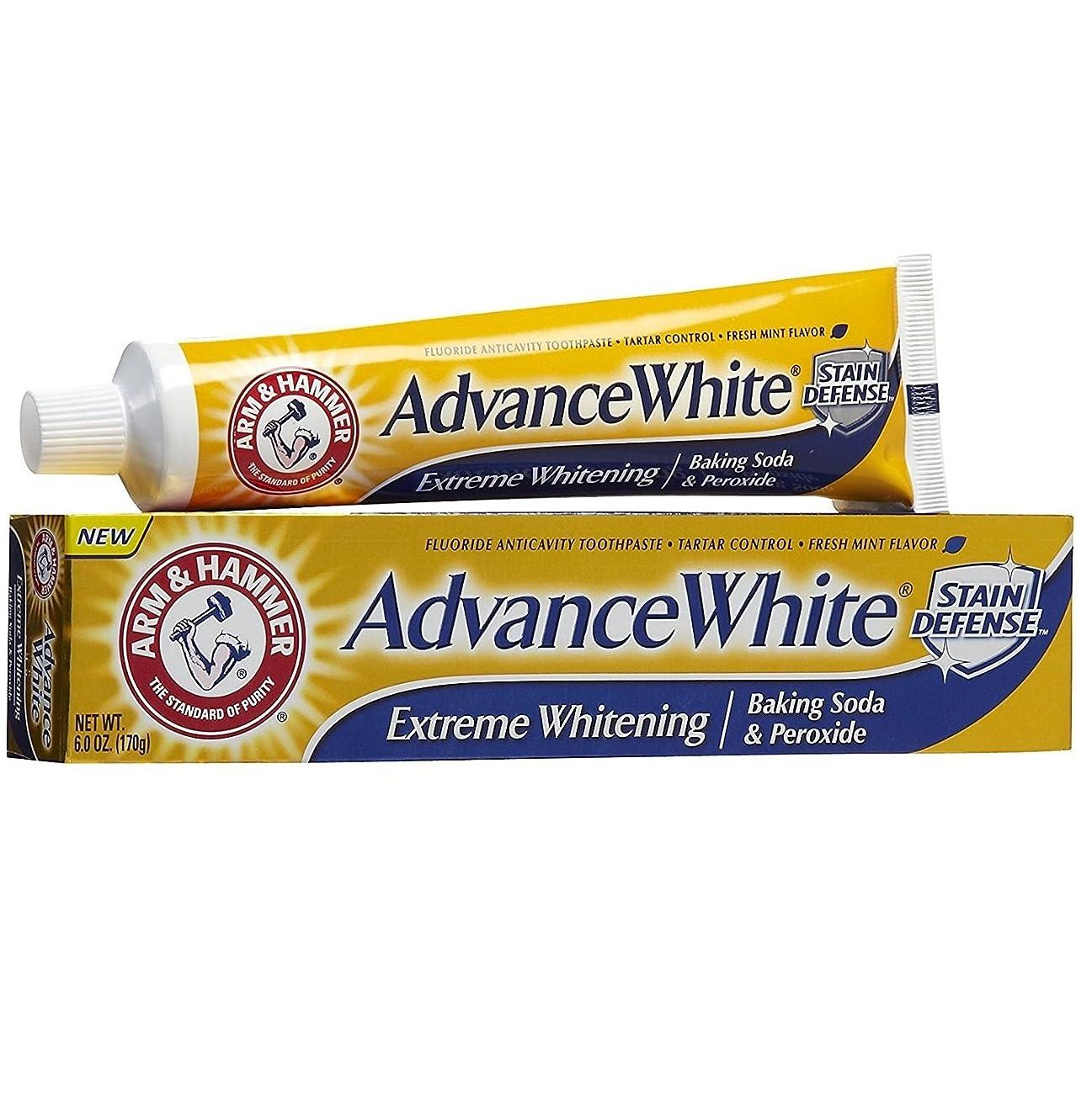 レスリングペパーミント教育【6本セット】【海外直送品】ARM&HAMMER Advance White Baking Soda & Peroxide 6oz(170g)x6本