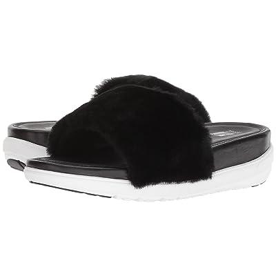 FitFlop Loosh Luxetm Slide Sandals (Black Shearling) Women