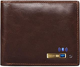 Smart LB Anti-Lost Bluetooth Wallet with Alarm, Position Record (via Phone GPS), Multi-Functional Bifold Cowhide Leather P... photo