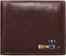 $29 » Smart LB Anti-Lost Bluetooth Wallet with Alarm, Position Record (via Phone GPS), Multi-Functional Bifold Cowhide Leather P...