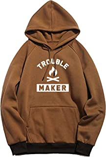 BAGHADBILLO Trouble Maker Printed Unisex Cotton Hoodies Sweatshirt for Men and Women
