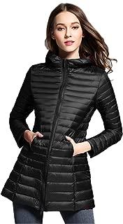 Women's Winter Light Weight Down Jacket Hooded Coat