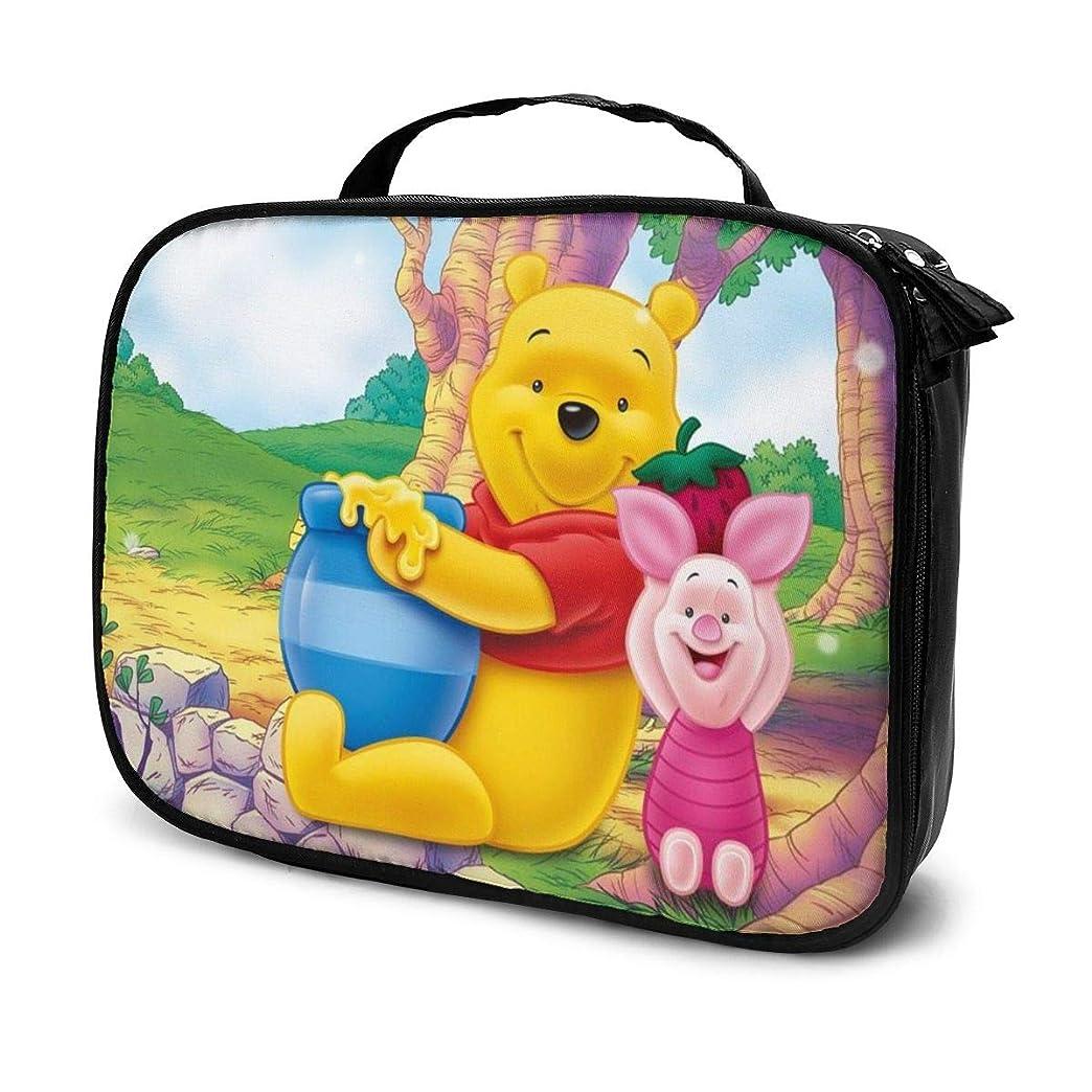 禁輸望むオフセットDaituくまのプーさんハニー 化粧品袋の女性旅行バッグ収納大容量防水アクセサリー旅行