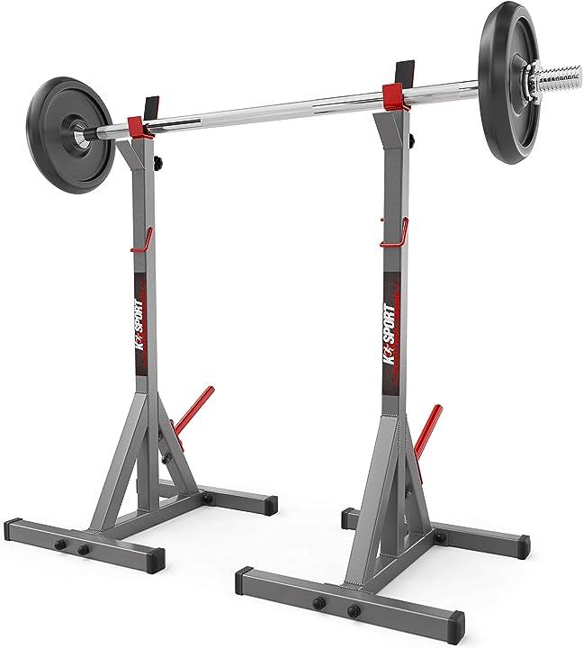 Supporto olimpionico per bilanciere, regolabile, per sollevamento pesi a casa k-sport B08B59YQN3