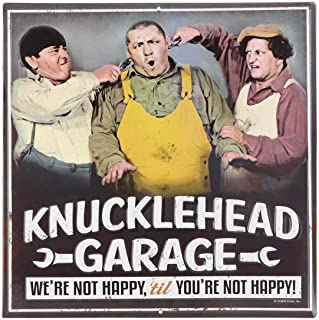 ZaikaHome Three Stooges Not Happy Embossed Metal Sign