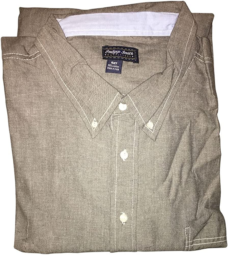 Indygo Smith Big and Tall Soft Wash Button Down Chambray Shirts