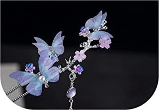 Girls Hair Band Butterfly Hairstick Chinese Traditional Headdress Handmade For Women Jewelry Gift Chinese Style Tassel Hair,Butterfly