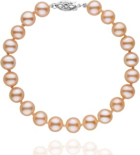 7.5-8.0 mm Pink to Peach Freshwater AAA Cultured Pearl Bracelet