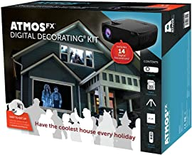 AtmosFX Digital Decorating Kit, Projector with Accessories for Holiday Projection Decorating on Halloween, Christmas, Birt...